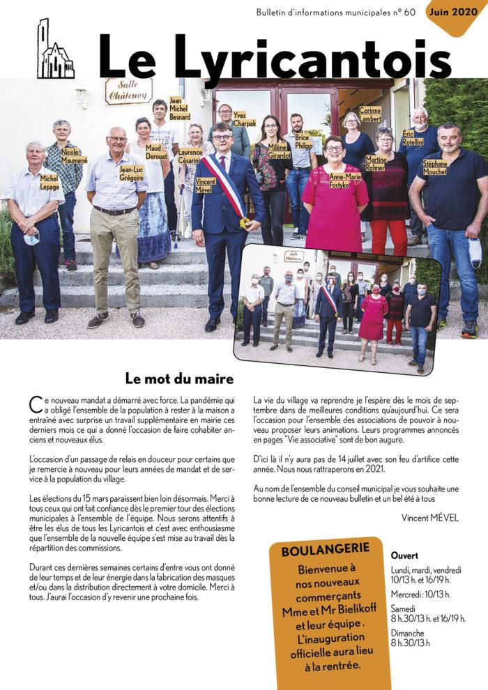 le Lyricantois Bulletin communal